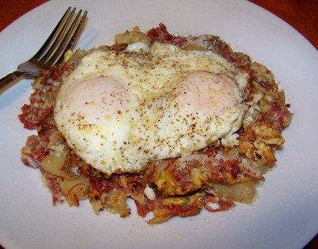 large_Corned Beef Hash and Eggs